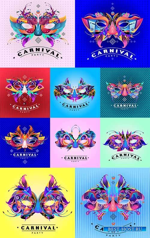 Карнавальная маска - Векторный клипарт / Carnival mask - Vector Graphics
