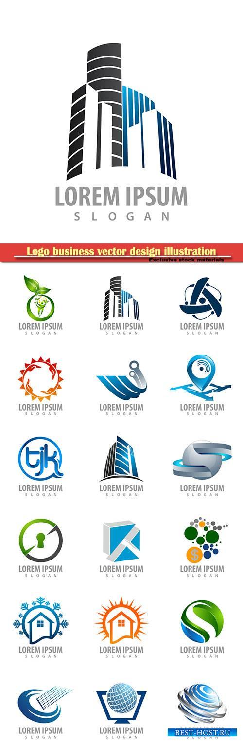 Logo business vector design illustration # 90
