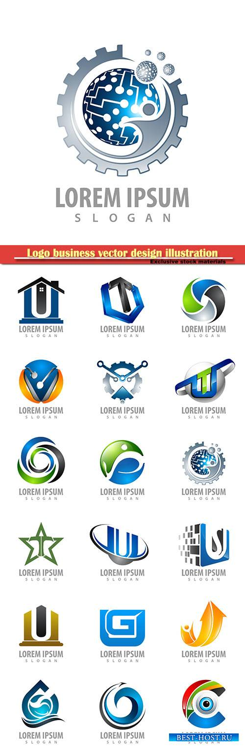 Logo business vector design illustration # 92