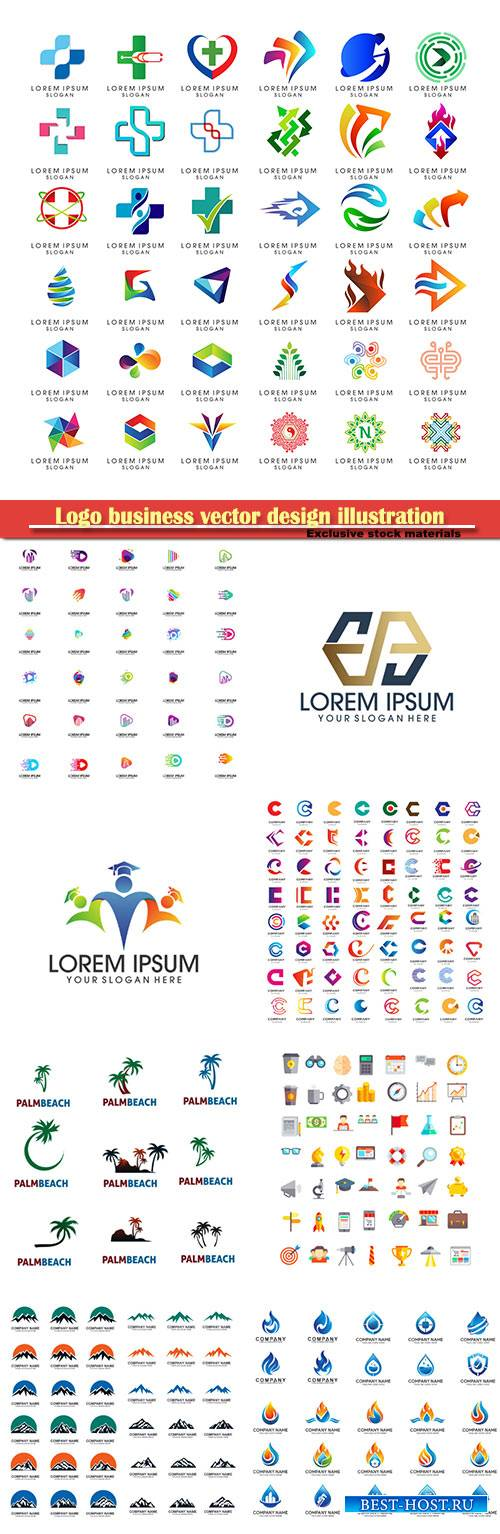 Logo business vector design illustration # 93
