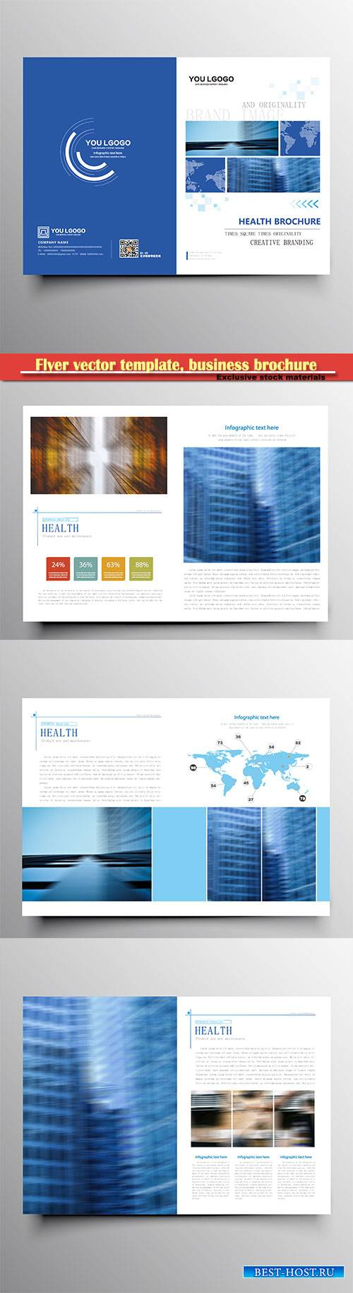 Flyer vector template, business brochure, magazine cover # 33