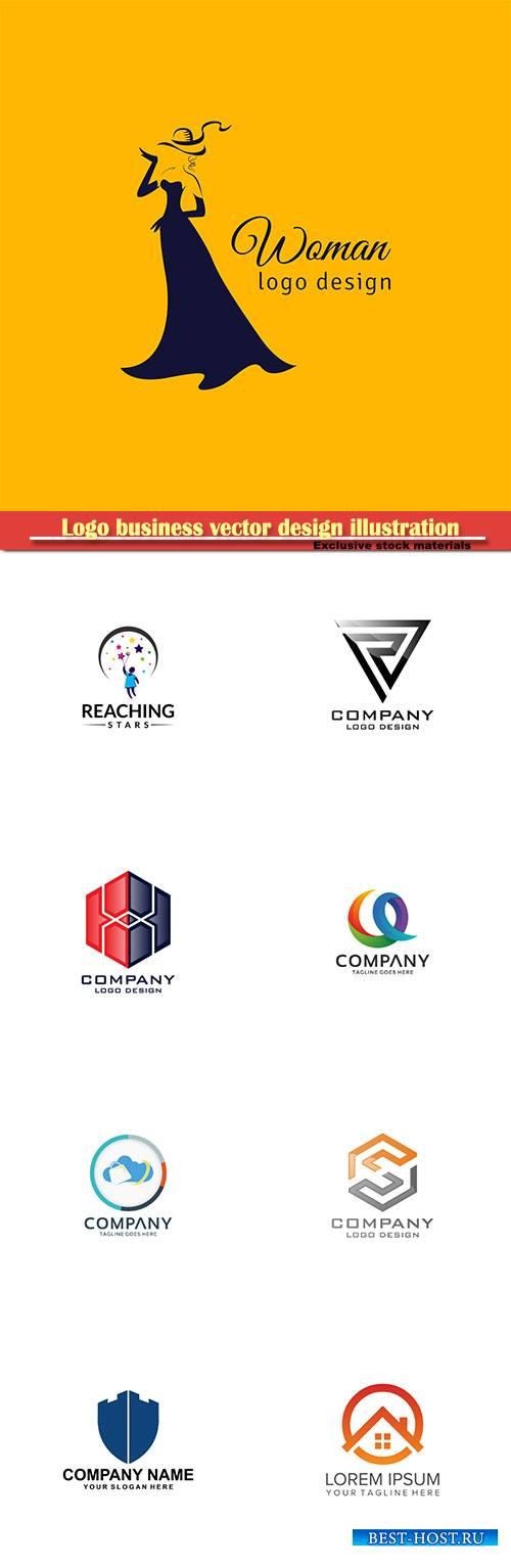 Logo business vector design illustration # 101