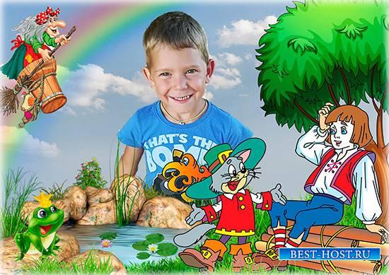 Рамка для детской фотографии - Герои русских сказок
