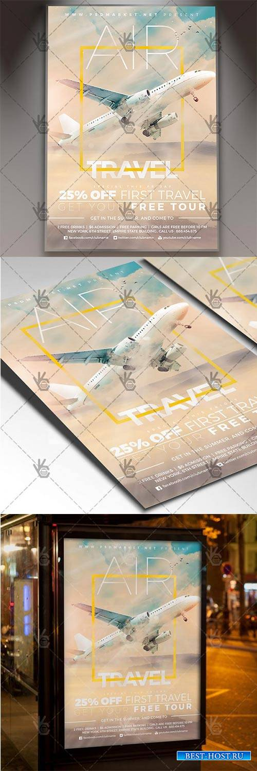 Air Travel – Seasonal Flyer PSD Template