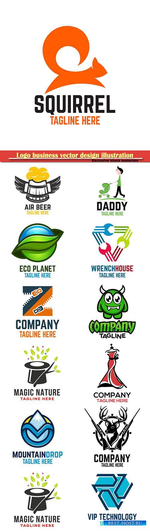 Logo business vector design illustration # 105