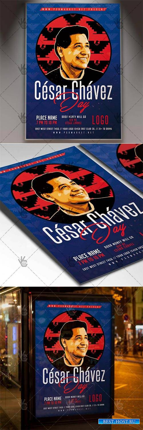 Cesar Chavez Day – Community Flyer PSD Template
