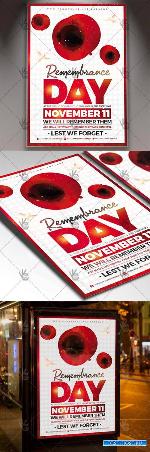 Remembrance Day – American Flyer PSD Template