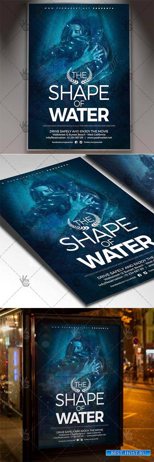 The Shape of Water – Club Flyer PSD Template