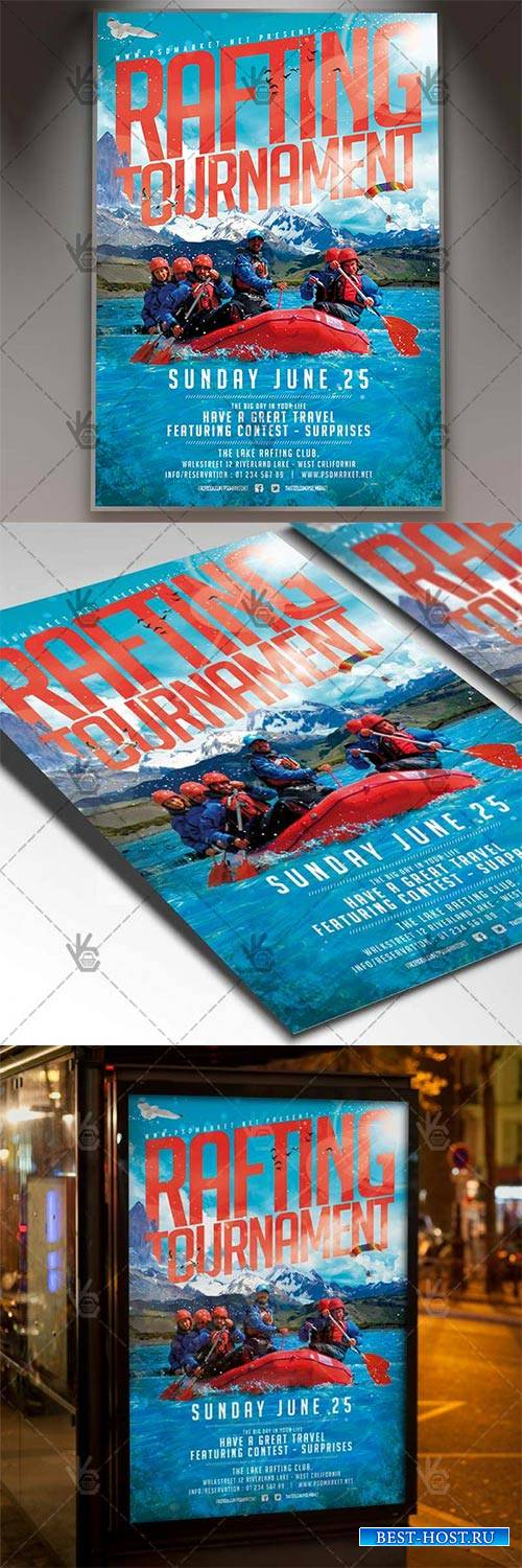 Rafting Flyer – Sport PSD Template