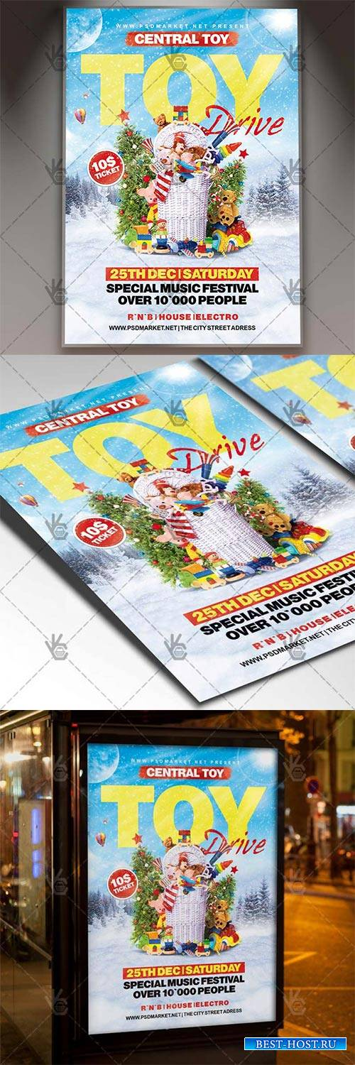 Toy Drive – Winter Flyer PSD Template