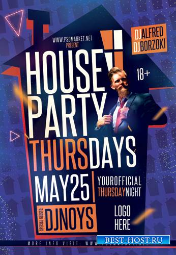 HOUSE PARTY FLYER – PSD TEMPLATE