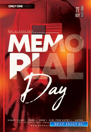 MEMORIAL DAY CLUB FLYER – PSD TEMPLATE