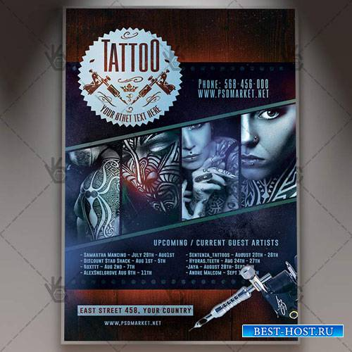 TATTOO FLYER - PSD TEMPLATE