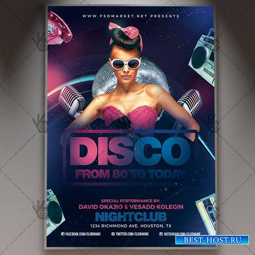 DISCO PARTY FLYER - PSD TEMPLATE