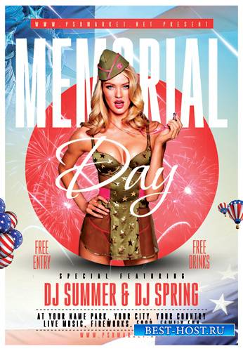 MEMORIAL DAY 2019 FLYER – PSD TEMPLATE