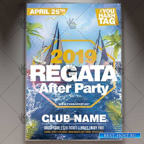 REGATA PARTY FLYER - PSD TEMPLATE