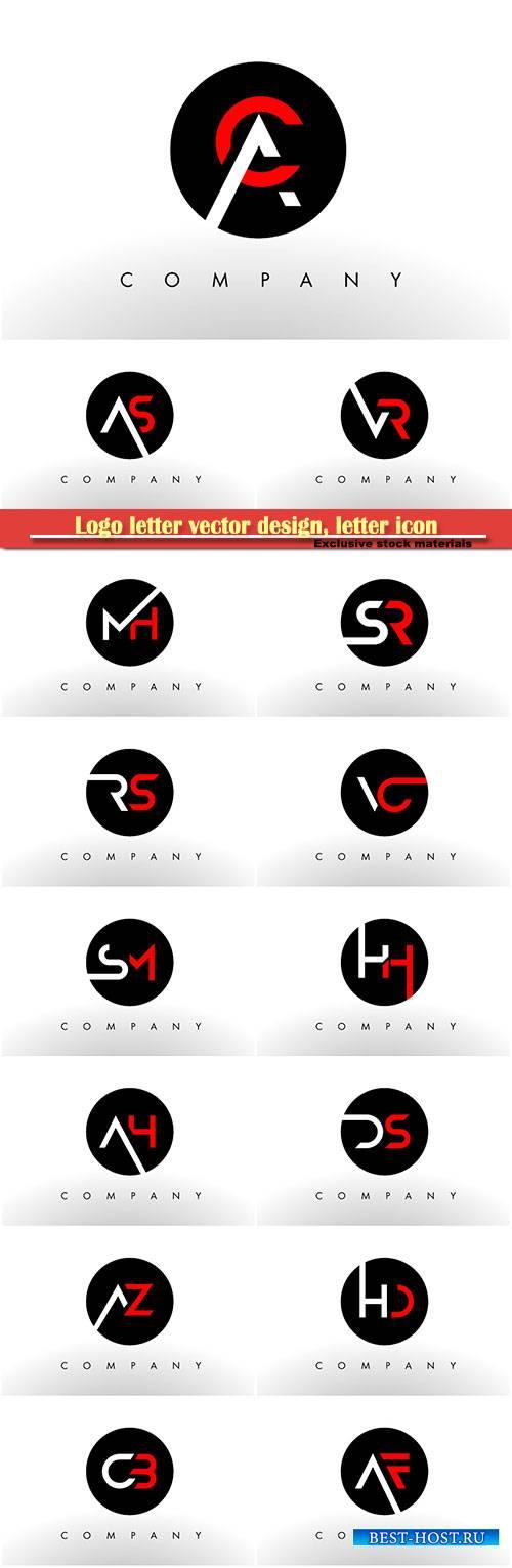 Logo letter vector design, letter icon # 14