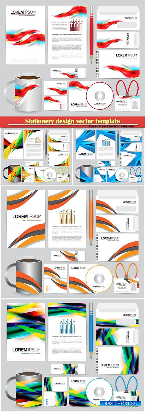 Stationery design vector template