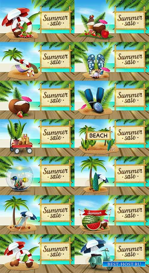 Здравствуй лето - 7 - Векторный клипарт / Hello summer - 7 - Vector Graphic ...