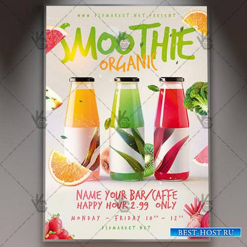 Smoothie Flyer – PSD Template