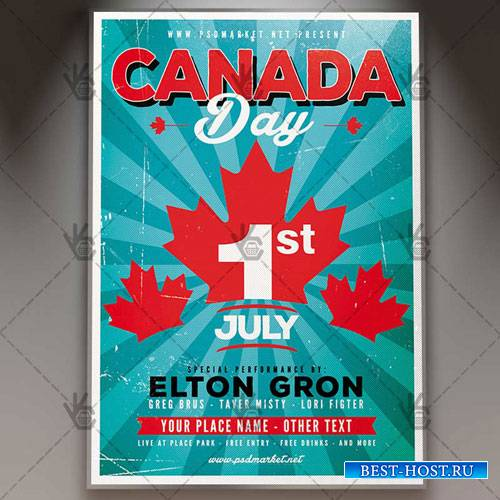 CANADA WEEKEND DAY FLYER – PSD TEMPLATE