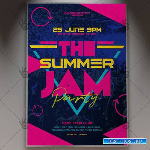 Summer Jam Flyer – PSD Template