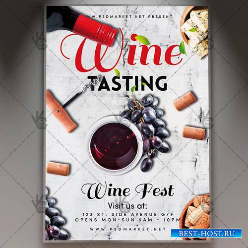 Wine Tasting Flyer – PSD Template