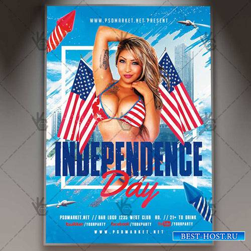 INDEPENDENCE DAY FLYER – PSD TEMPLATE