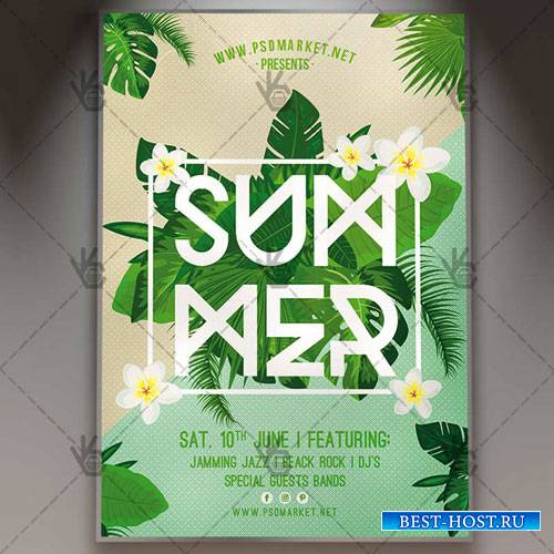 Summer Party Flyer – PSD Template