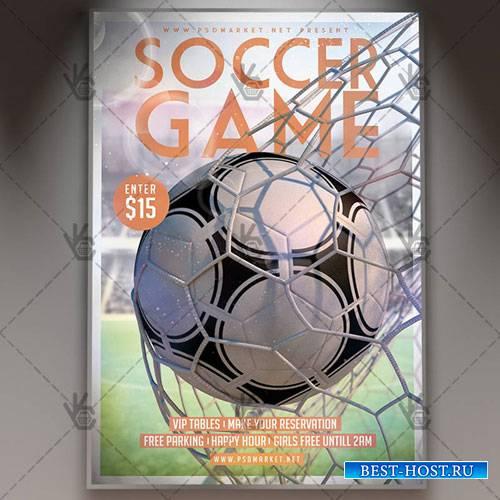 Soccer Flyer – PSD Template