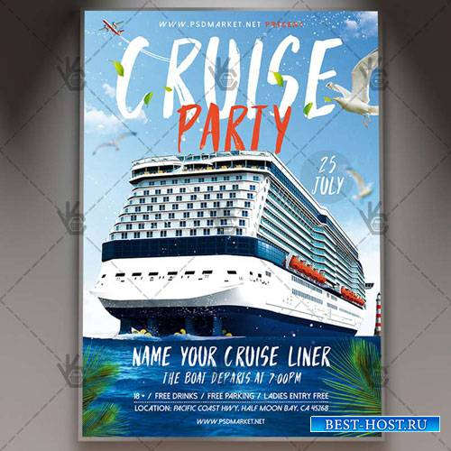 CRUISE FLYER – PSD TEMPLATE
