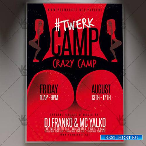 TWERK PARTY FLYER - PSD TEMPLATE