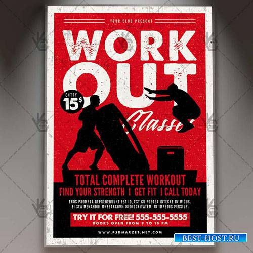 WORKOUT FLYER - PSD TEMPLATE