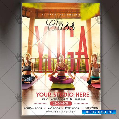 YOGA FLYER - PSD TEMPLATE