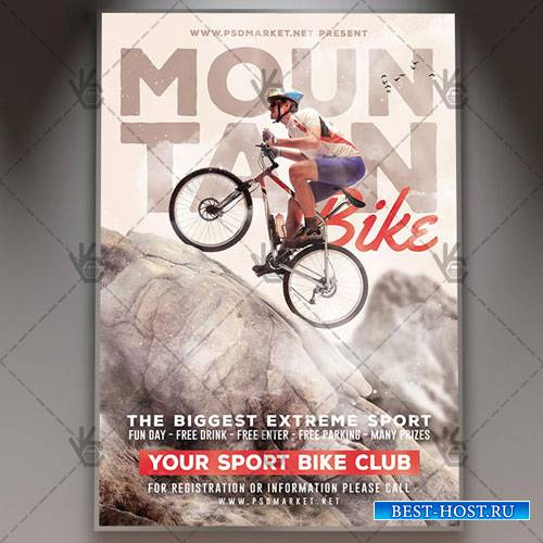 Mountain Bike Flyer - PSD Template