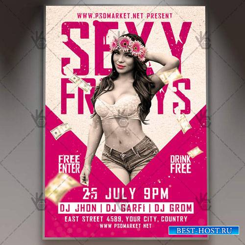 Sexy Fridays Flyer - PSD Template
