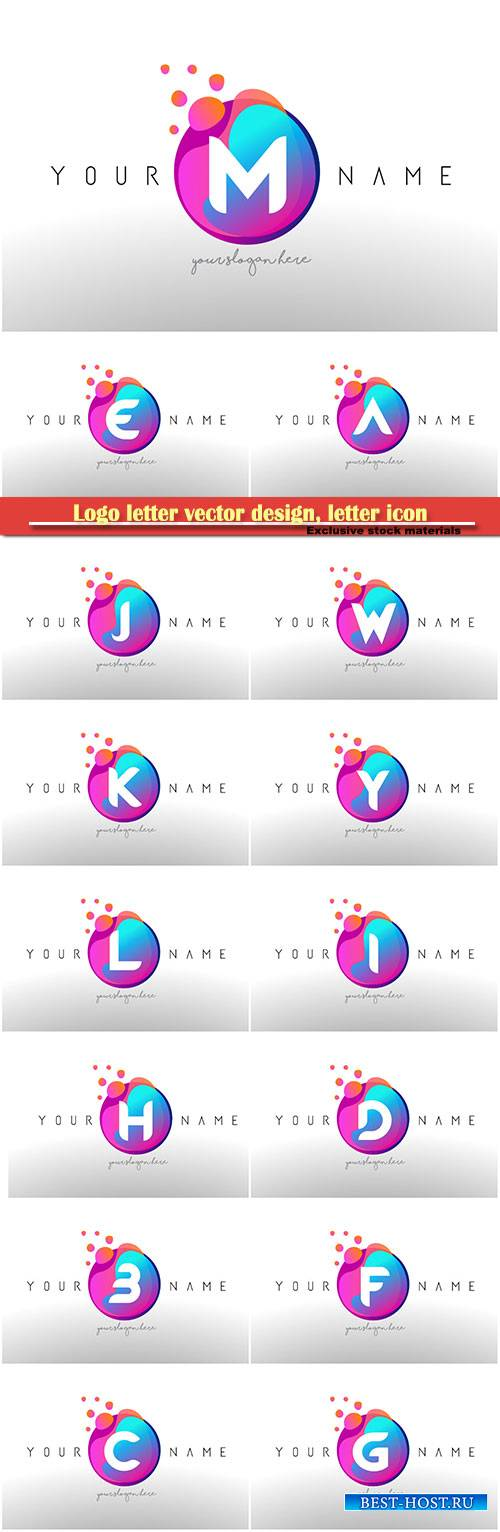 Logo letter vector design, letter icon # 17