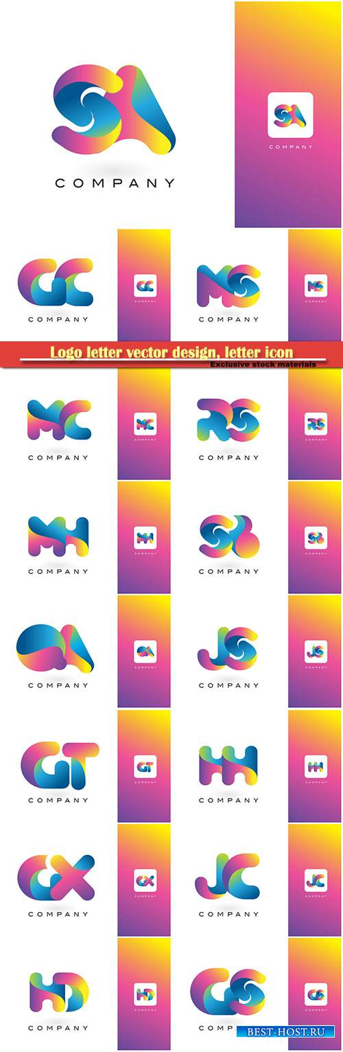 Logo letter vector design, letter icon # 21