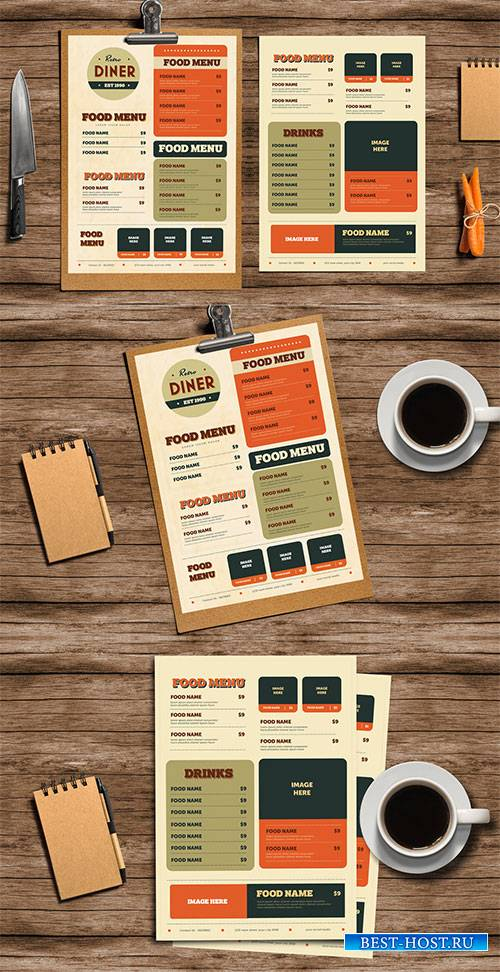 Retro Diner Menu Layout