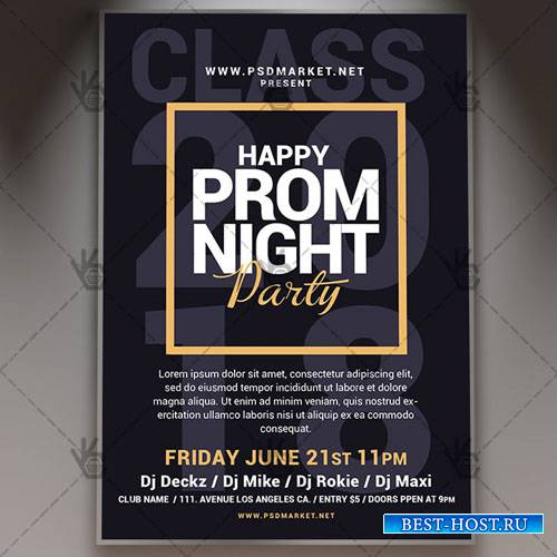 Happy Prom Night Flyer – PSD Template