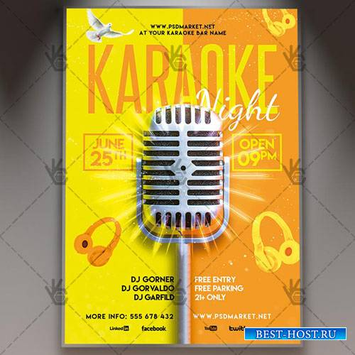 Karaoke Night Flyer – PSD Template