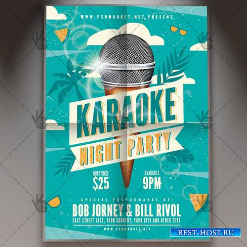 Karaoke Flyer – PSD Template