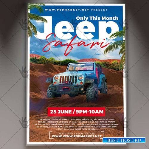 Jeep Safari Flyer – PSD Template