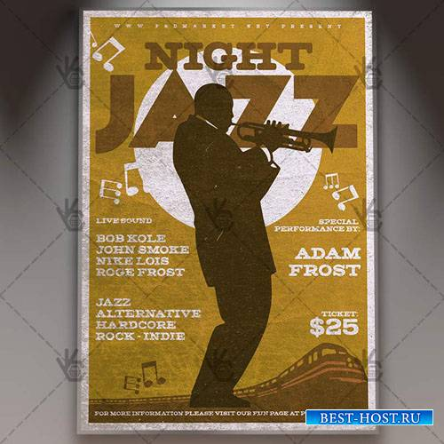 Jazz Night Flyer – PSD Template
