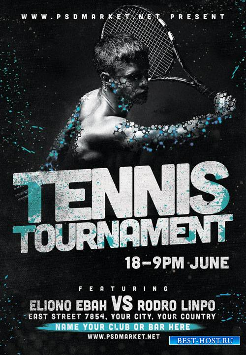 Tennis Flyer - PSD Template