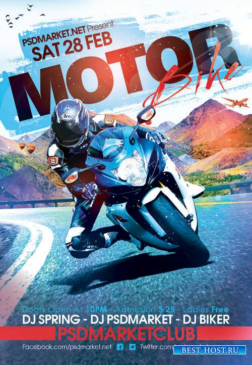 MOTOR BIKE – PREMIUM FLYER PSD TEMPLATE