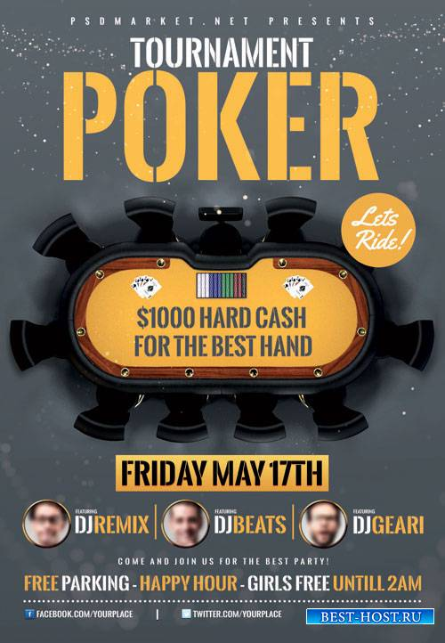 POKER TOURNAMENT – PREMIUM FLYER PSD TEMPLATE