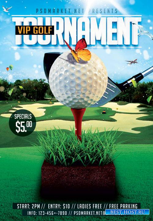 GOLF TOURNAMENT – PREMIUM FLYER PSD TEMPLATE