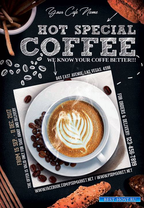 COFFEE – PREMIUM FLYER PSD TEMPLATE