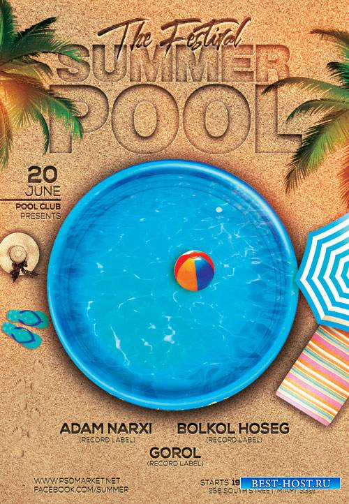 SUMMER POOL – PREMIUM FLYER PSD TEMPLATE